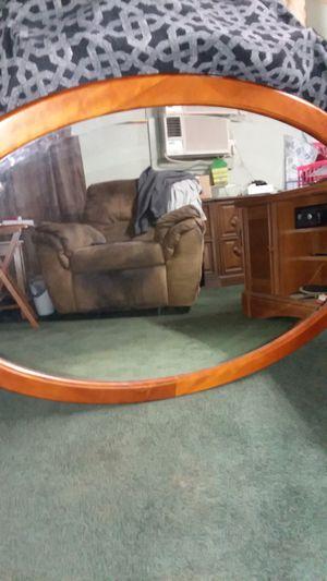 Oak Oval shaped Mirror for Sale in Avon Park, FL