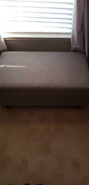 ottoman with storage. Very nice. Color is gray for Sale in Franklin, TN