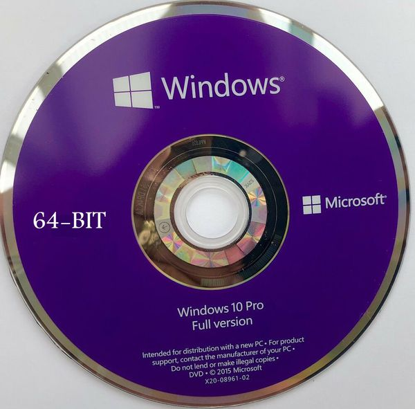 Windows 10 Software ~ 64bit With Drivers