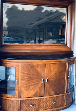 Hutch / China Cabinet / Bar - Solid Marble Top for Sale in East Wenatchee, WA