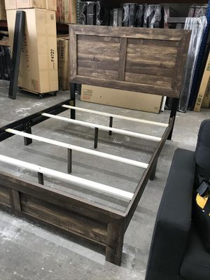 Queen Size Bed Frame with Mattress for Sale in Lawndale, CA