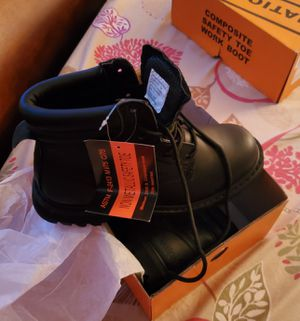 Safety toe work boot size 7 for Sale in New York, NY