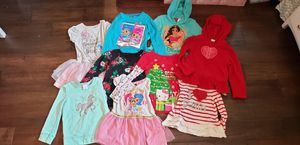 Girls Lot of 9 (4T-6T)clothes: Hello Kitty, Shimmer & Shine, Elena, Unicorn, Heart, Christmas for Sale in Cypress, CA