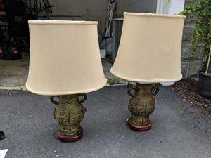 Antique Oriental lamp set for Sale in Medford, MA