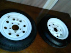 2 dexstar rims 1 tire for trailer or camper for Sale in FSTRVL TRVOSE, PA