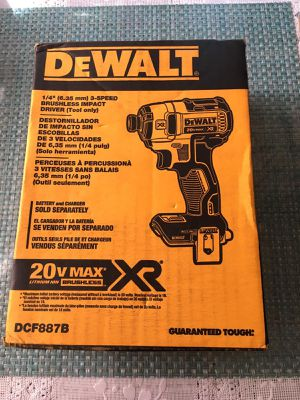 DEWALT 20-Volt MAX XR Lithium-Ion Cordless Brushless 3-Speed 1/4 in. Impact Driver (Tool-Only) for Sale in Los Angeles, CA