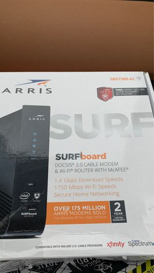 Surfboard Areias cable modem and WiFi router with cable for Sale in Houston, TX