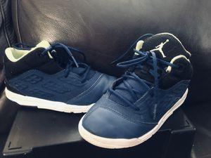 Jordan's size 13 boys Dark blue/black/neon green Well taken care of. Great condition. for Sale in San Jose, CA