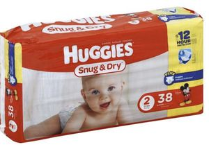Huggies Snug & Dry Diapers - size 2 - 38 Count- BRAND NEW for Sale in Coral Springs, FL