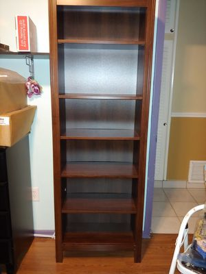 "Bookshelf good condition 6 shelves wood. 26""Wx75""Hx12""D for Sale in Miami, FL"