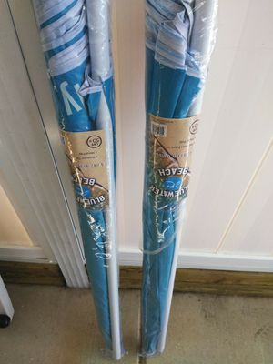 Two beach umbrellas brand new for Sale in North Fort Myers, FL
