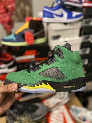 Nike Air Jordan Retro 5 Oregon New Size 9 and 11 $300 no trades😃😃😃😃 for Sale in Orlando, FL