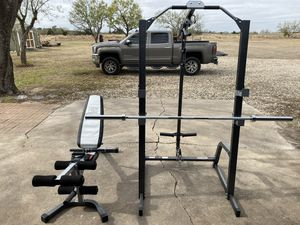 Marcy Pro Cage w/ weights and mats for Sale in Creedmoor, TX