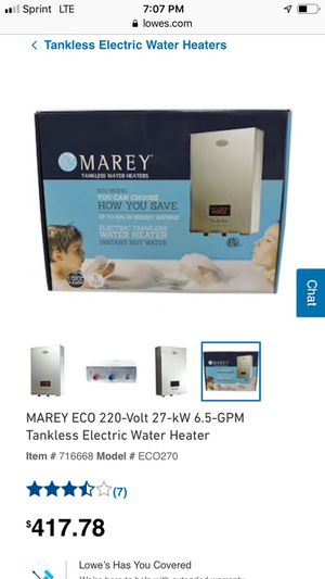 Marey tankless water heater for Sale in Peabody, MA