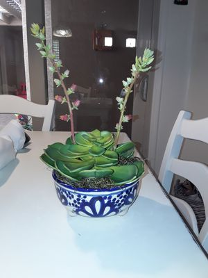Ceramic Bowl with Nice Quality Fake Succulent for Sale in Chandler, AZ