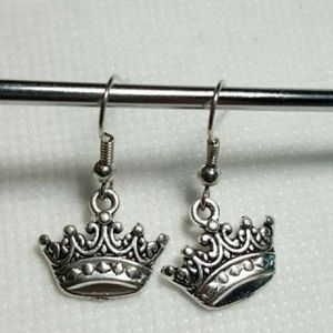 Crown 925 sterling silver beautiful Charms Earrings -SLV for Sale in Queens, NY