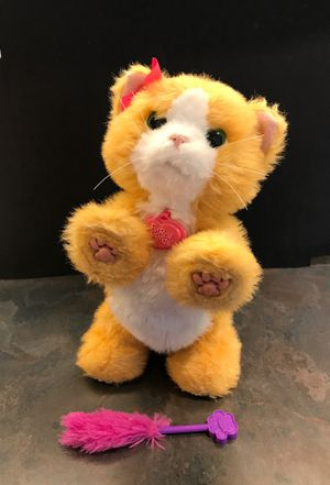 PRICE LOWERED! Furreal friends Daisy Cat robotic toy with feather wand for Sale in Federal Way, WA