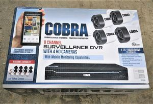 8 Channel Surveillance DVR With 4 HD Cameras And Mobile Monitoring Capabilities for Sale in Oceanside, CA