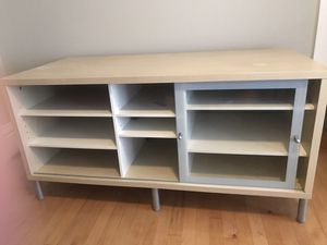 Modern glass and plywood TV stand for Sale in Houston, TX