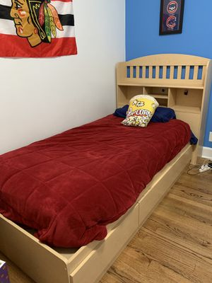 Kids bedroom set with twin bed, dresser/optional changing table & armoire for Sale in Chicago, IL