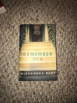 Remember Mia - Alexandra Burt book for Sale in Albia, IA