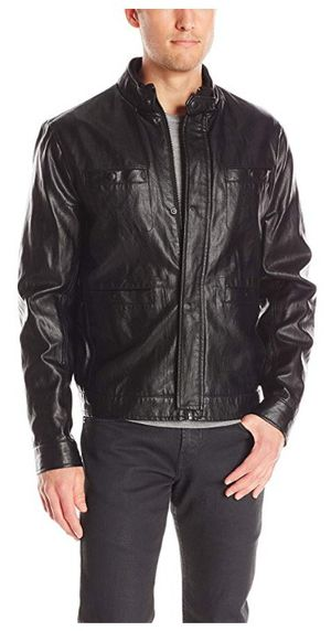 Kenneth Cole vegan leather jacket size medium for Sale in Baltimore, MD