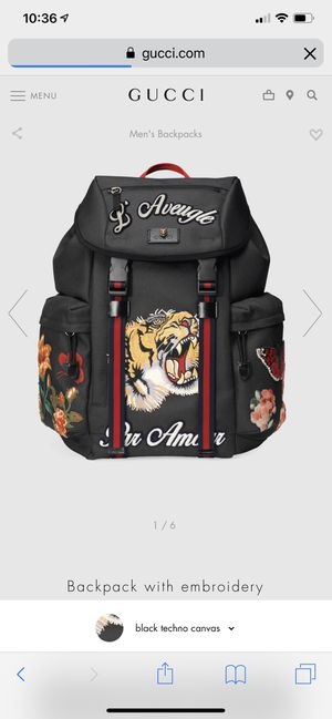 Gucci Black Backpack w/ Tiger Embroidery for Sale in Pittsburgh, PA