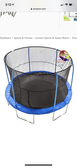 New jump king 12' bounce n dunk trampoline and enclosure combo for Sale in Dublin, OH