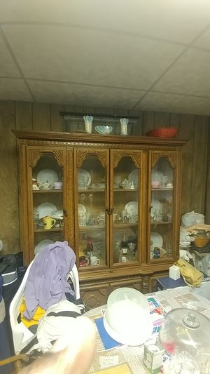 Antique China Cabinet and Table for Sale in Detroit, MI
