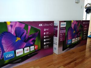 "Phillips 55"" 4k smart tv for Sale in Trenton, NJ"