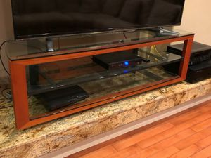 wood and glass console for Sale in Chula Vista, CA