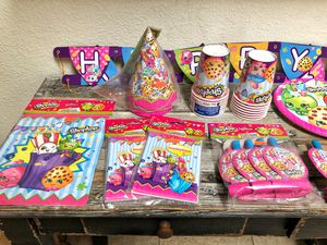 Shopkins party supplies for Sale in Las Vegas, NV
