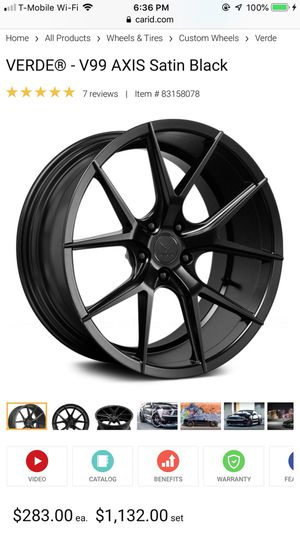 Verde rims used with tires for Sale in Los Angeles, CA