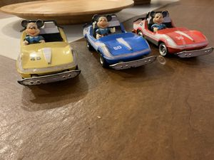(3) Vintage Walt Disney Production Mickey Mouse Tin Autopia Cars for Sale in West Carson, CA