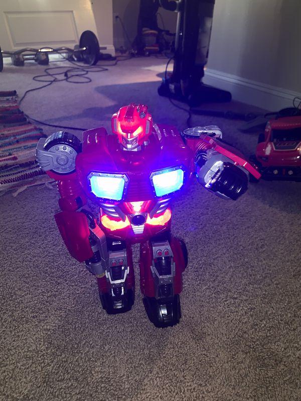 Walking talking light up Robot