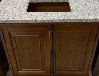 823- Clinton 36 inch vanity in Antique Coffee with a Granite top for Sale in Roswell,  GA