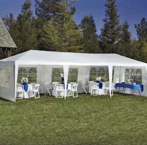 *NEW* FOR SALE! 10x30 Outdoor Canopy Party Wedding Tent White Gazebo Pavilion W/8 Side Walls for Sale in Tampa, FL