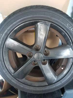 Two Uesd 16 Inch Kia Rims with Tires for Sale in Pawtucket, RI
