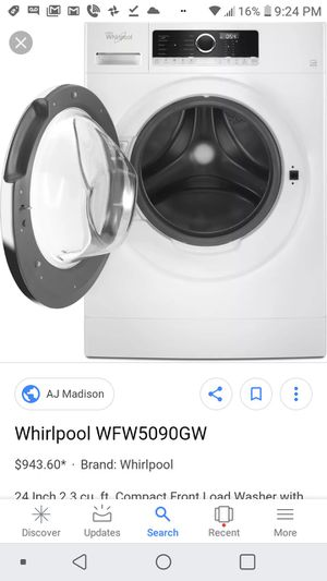 Brand new in box compact whirlpool frontload washer for Sale in Washington, DC