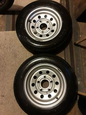 Spare set of 2 trailer tires and rims- see description for Sale in Lisle, IL