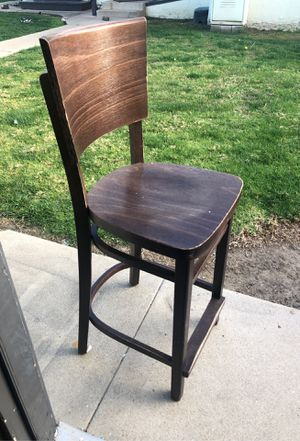 Pub wood chairs total 6 $15 each for Sale in Fullerton, CA