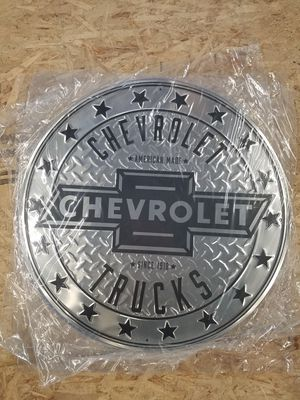 Huge chevy Chevrolet trucks embossed metal sign for Sale in Vancouver, WA