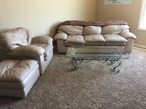 SALE::::Sofa, chair, ottoman & table for Sale in Laveen Village, AZ