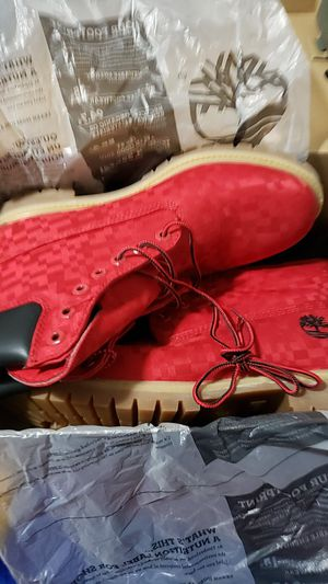 red timberland boots for Sale in Dallas, TX