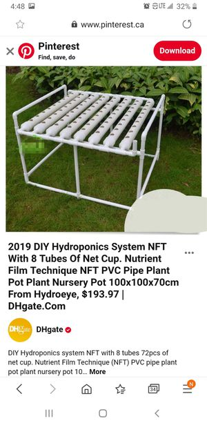 Used NFT hydroponics system. for Sale in Anaheim, CA