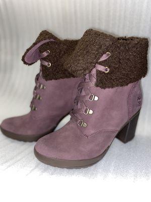 "NEW Timberland Women's Camdale 8"" Dark Purple Heeled Boots | Size US 7.5 for Sale in SANTA ROSA VA, CA"