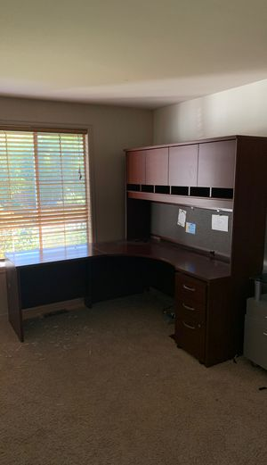 Office furniture executive desk shelf and printer stand for Sale in Mill Creek, WA