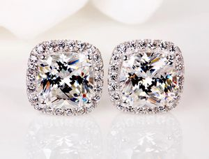 YANHUI With Certificate Luxury 2.0ct Zirconia Diamond Earrings Fine Jewelry, YANHUI Silver 925 Jewelry Necklace 100% 925 Sterling Silver Sapphire Pen for Sale in Alexandria, VA