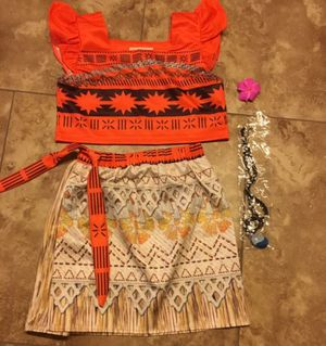 Moana adventure 2 piece dress for 8 year old girl for Sale in Flower Mound, TX