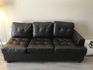 Modern comfy leather sofa for Sale in Denver, CO